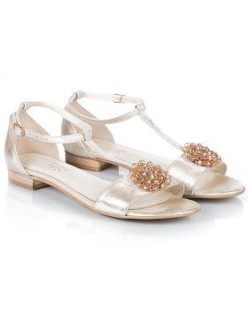 Sandałki L995 beżowe