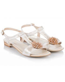 Sandałki L254 beżowe