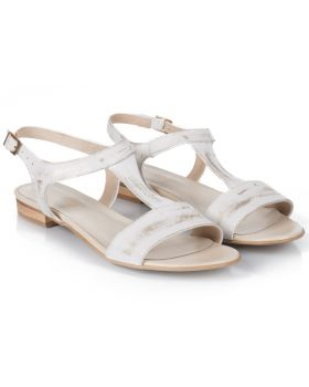 Sandałki L255 białe