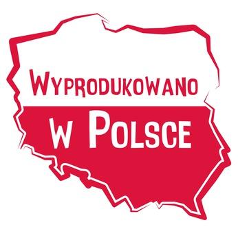 Znacznik informujący, że buty zostały wyprodukowane w Polsce
