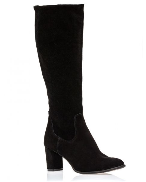 Black boots suede Z562