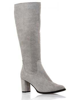 Grey boots suede Z562