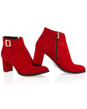 Red booties B474