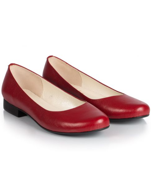 Ballerinas C507 red wide