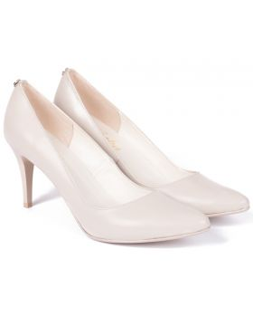 Shuttles high heel matt beige