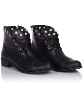 Booties B453 black wide