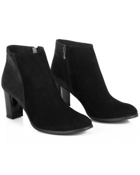 Black booties B473 wide