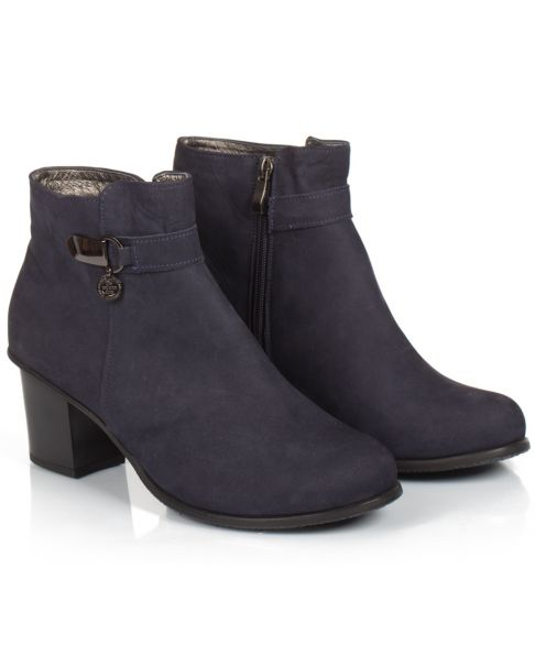 Booties B560 blue z nubuku