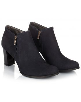 Booties B710 navy z nubuku