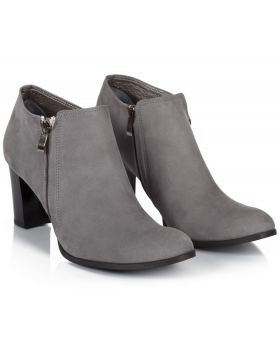 Booties B710 grey z nubuku