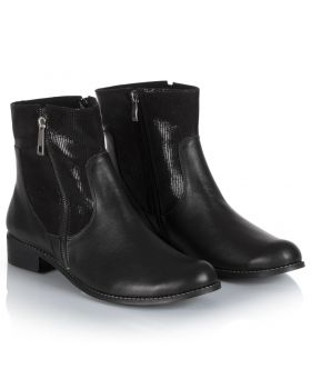 Booties B723 black wide