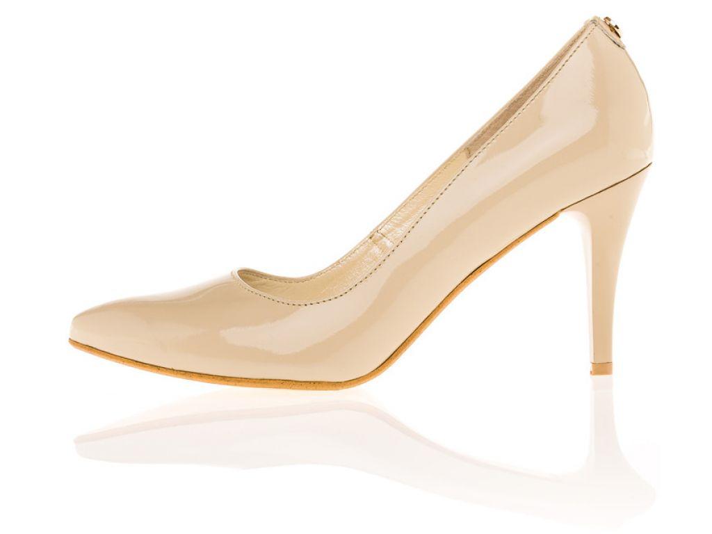 Lodičky vysoký podpatek béžový dámské nadměrné a podměrné boty c3d6bf04c0