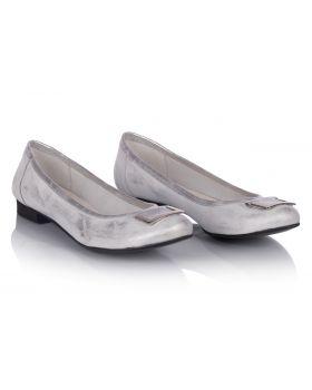 Ballerinas C813 silver wide