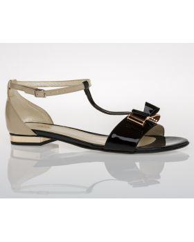 Sandałki z kokardą L129