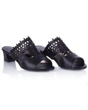 Sandałki L192 szerokie czarne