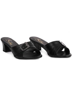 Sandałki L193 szerokie czarne