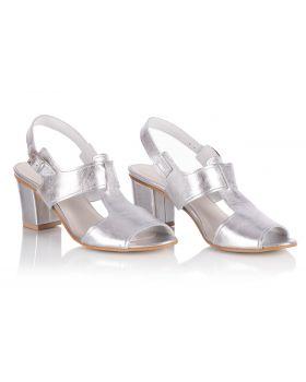 Sandály L222 stříbro široké