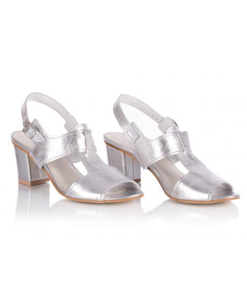 Sandałki L222 srebrne szerokie