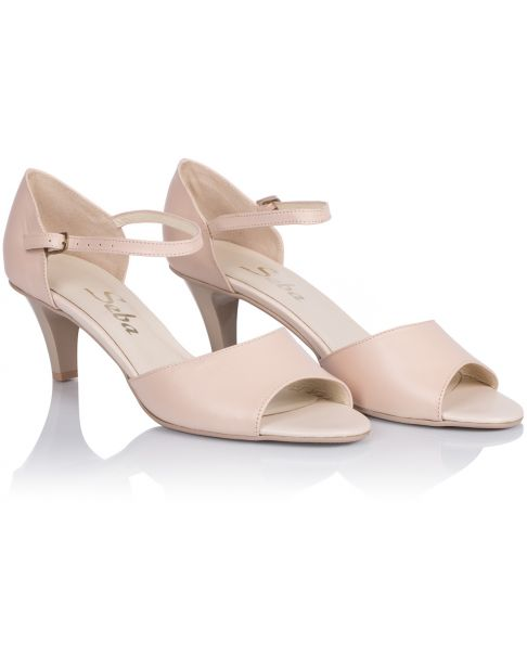 Sandałki L241 beżowe szerokie