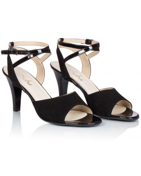 Sandałki L242 czarne szerokie