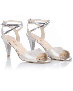 Sandałki L242 srebrne