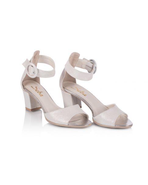 Sandałki L252 kremowe szerokie