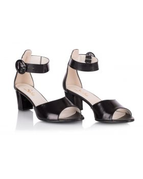 Sandałki L252 czarne szerokie