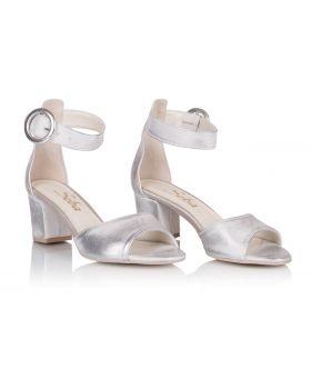 Sandałki L252 srebrne szerokie