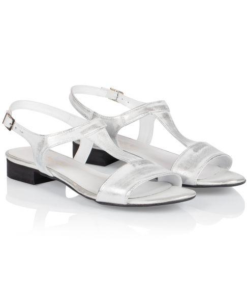Sandałki L255 srebrne