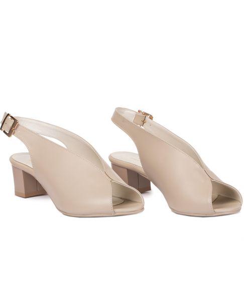 Sandałki L433 beżowe szerokie