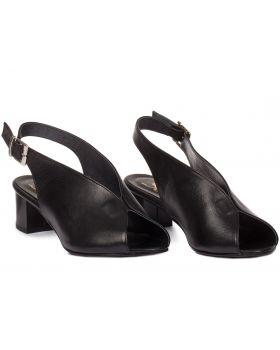 Sandałki L433 czarne szerokie