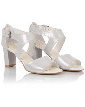 Sandałki L437 srebrne