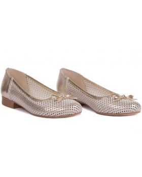 Ballerinas L505 gold wide