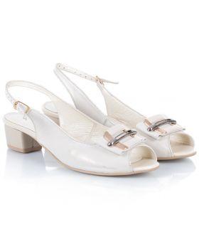 Sandałki L521 beżowo-złote