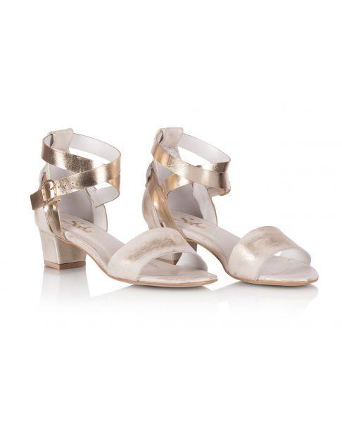 Sandałki L527 złote szerokie