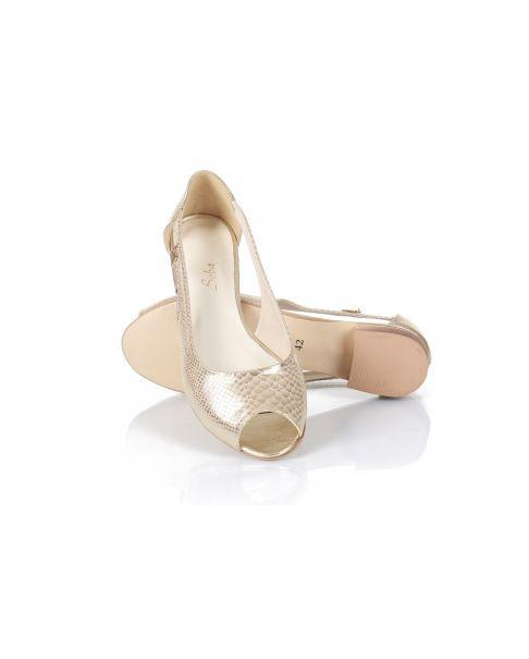 Sandałki L750 złote (szerokie)