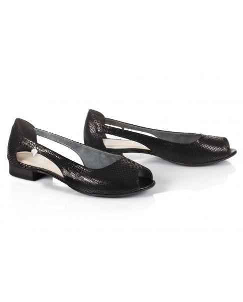 Sandałki L750 czarne (szerokie)