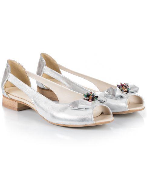 Sandałki L753 srebrne