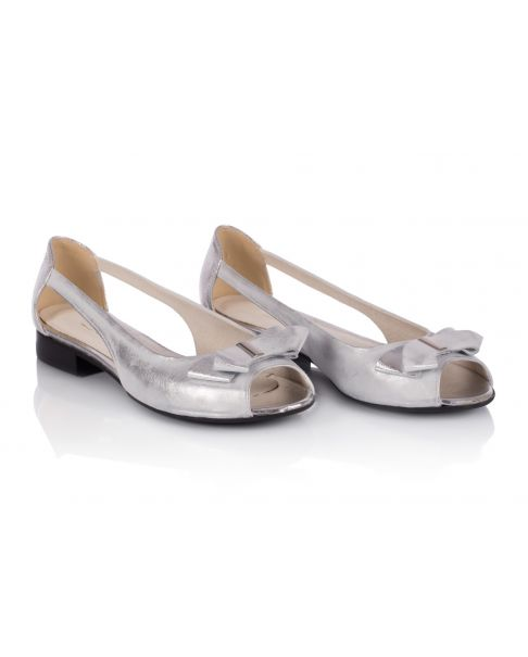 Sandałki srebrne L757 szerokie