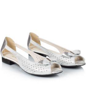 Sandałki białe L757D