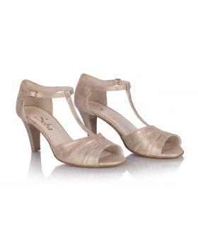 Sandałki L876 beżowe