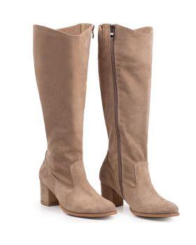 Csizma Z565 bézs széles borjú cipő